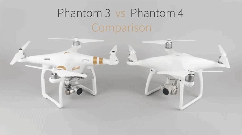 Drone Phantom 3 vs 4