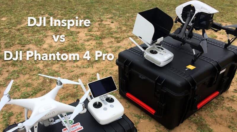 phantom 4 vs inspire - Appearance