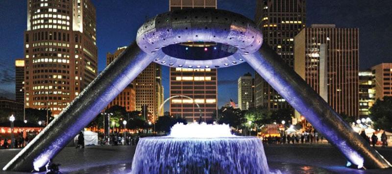 Hart Plaza Downtown Detroit MI