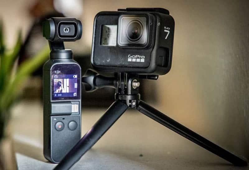Osmo Pocket VS GoPro Hero7 Black Side By Side Compare
