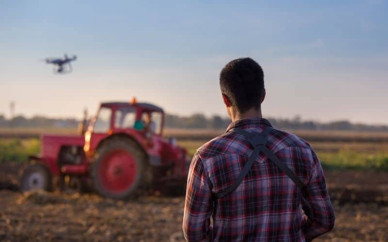 How are drones used in agriculture
