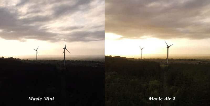 Mavic Air 2 Camera vs Mavic Mini Camera